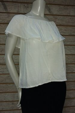 Blusa Fem Cigana Viscose Cor Off Write RV Tam. P